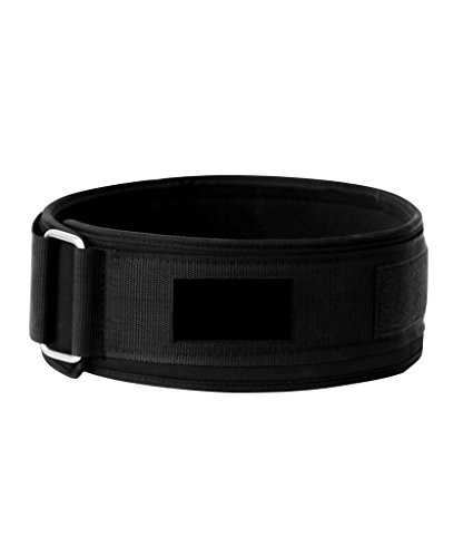 Weight Lifting Belt for Men & Women-4inch Padded Velcro Weightlifting Belt-Gym Workout Powerlifting Belts with Lumbar Support-WOD Olympic Lifts Fitness Training