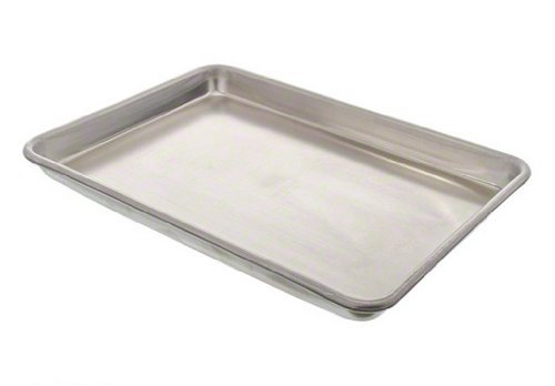 5 X Vollrath 5220 Aluminum Wear-Ever Heavy-Duty 16-Guage Closed Bead Natural Sheet Pan, 1/4 Size