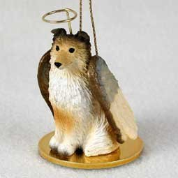 (1 X Sheltie Angel Dog Ornament - Sable)