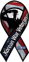 Korean War Veteran Salute Large Ribbon Magnet ()