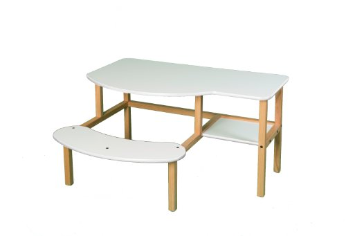 Wild Zoo Furniture Childs Wooden Computer Desk for 1 to 2 Kids, Ages 2 to 5, White For Sale