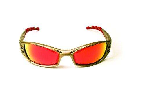 3M Fuel Protective Eyewear, 11640-00000-10 Red Mirror Lens, Metallic Sand Frame  (Pack of 1)