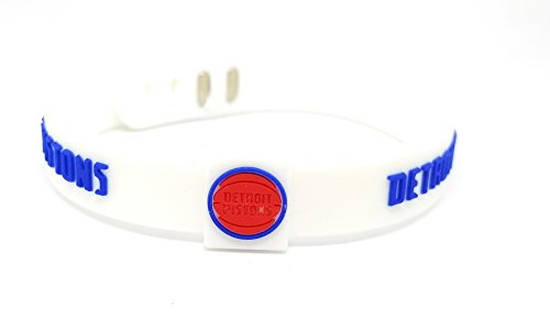 fan products of SportsBraceletsPro ADJUSTABLE Team Bracelets Adult Size Basketball (Pistons)