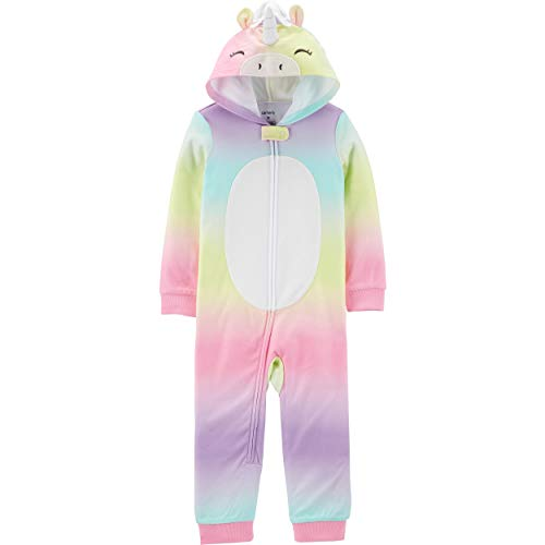 Carter's Girls and Boys Hooded Fleece Footless PJs