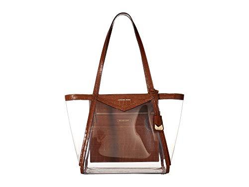 Michael Kors Whitney Large Top Zip Tote Handbag in Chestnut Clear (Clear Michael Kors Handbags)