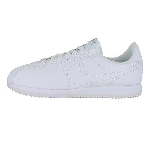 Nike Mens Cortez Basic Leather Trainers White/Wolf Grey/Metallic Silver