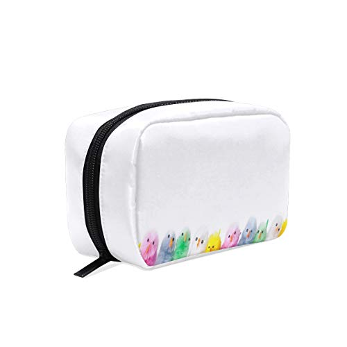 Cosmetic Bag Rainbow Easter Chicks Girls Makeup Organizer Box Lazy Toiletry Case