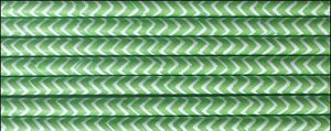 """Paper Straws 8"""" - Pack of 50 Lime Chevron by Retro Sally"""