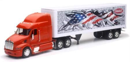 Peterbilt 387 Container 1:32 Diecast Truck Red Tractor Trailer