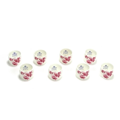 Divinity Pink by Coalport, China Napkin Ring, Set of 8