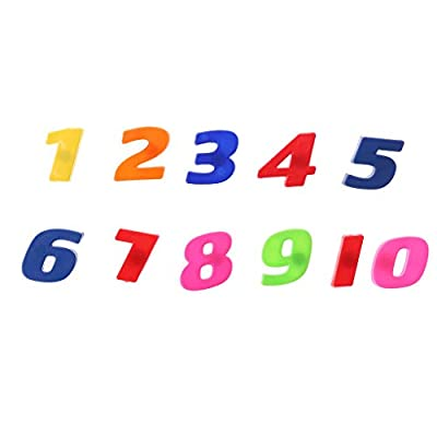 Yeahii. 42 Colorful Letters & Numbers Alphabet Set Fridge Magnets Teaching Magnetic Refrigerator Decal Magnetic for Kids Baby Educational Learning Toy: Kitchen & Dining