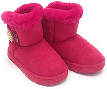 Blue Berry EASY21 Baby Infant Girls Faux Fur Mid Calf Warm Boots