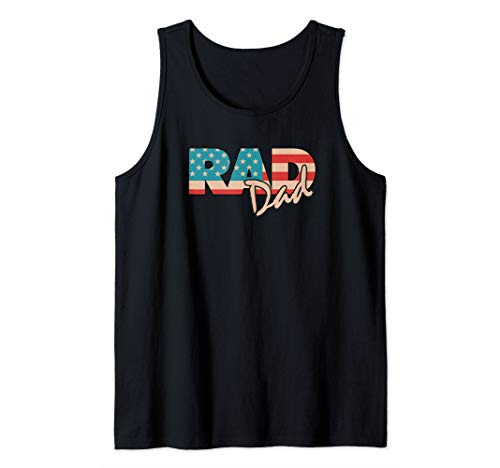 (Rad Dad 1990's retro Fathers Day Gift Tank Top)