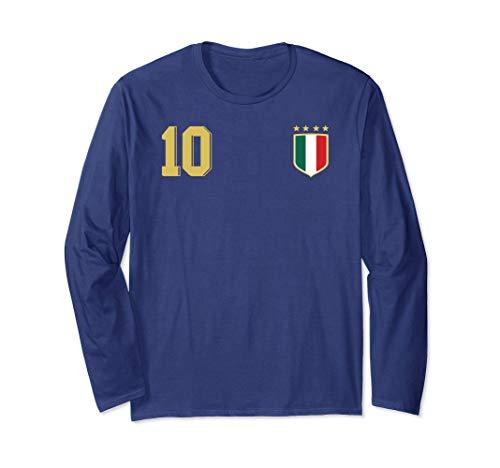 (Retro Italy Soccer Jersey Italia Football Long Sleeve Tee)