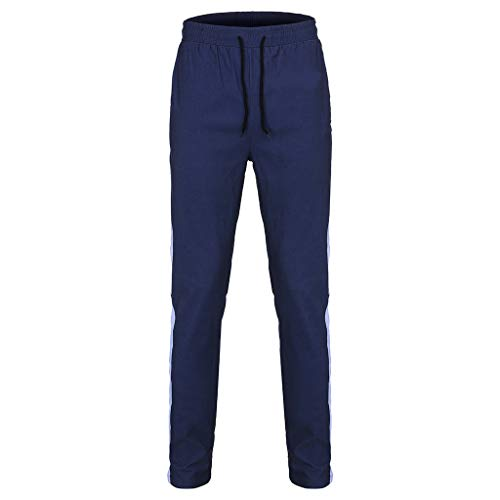 - UOFOCO Mens Sports Pants New Leisure Tight Printed Trousers Fashion Comfortable Navy