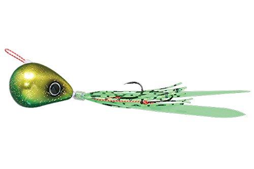JACKALL(ジャッカル) ルアー 爆流鉛式ビンビン玉スライド80g ラメグリキン/蛍光グリーンの商品画像