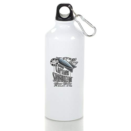 Wenlitee Space Sedan Used Space Ships Aluminum Outdoor Sports Bottle Mountaineering Kettle White M