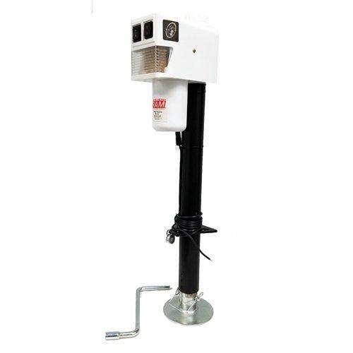 RAM EJ-3520-WBX 3,500 lb. Electric Trailer Jack with Drop Leg - White Drop Leg Trailer Jack