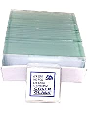 72 Blank Microscope Slides and 100 Square Cover Glass