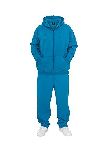 Urban Classics Blank Suit tuta da jogging da uomo grigio turchese 3XL