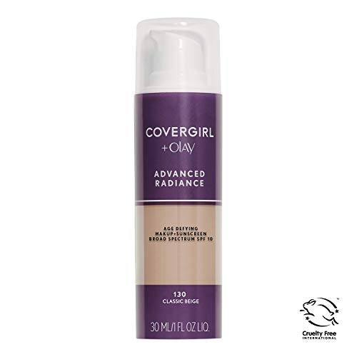 COVERGIRL Advanced Radiance Age-Defying Foundation Makeup, Classic Beige, 1 oz (Packaging May Vary) (Foundation Beige Complexion)
