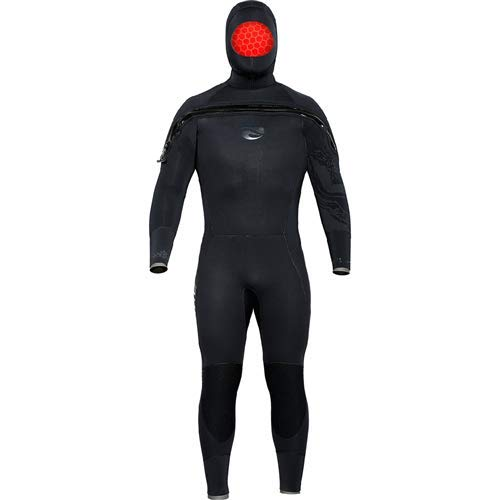 Bare 8/7mm Ultra Velocity Semi-Dry Men's Hooded Suit (Mens Semi Drysuit)