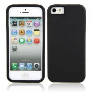 Simplicity Style Protective Silicone Hard Case for iPhone 5 Black