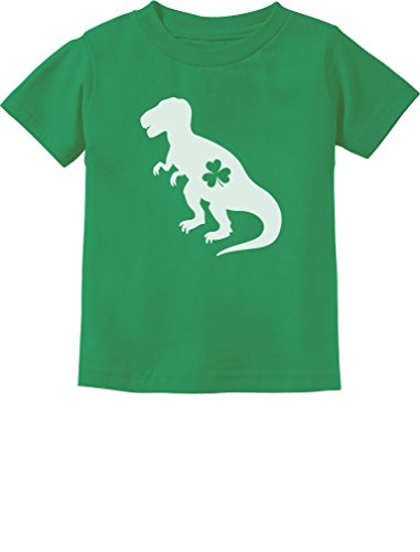 Irish T-Rex Dinosaur Clover St. Patrick's Day Gift Toddler/Infant Kids T-Shirt 3T Green