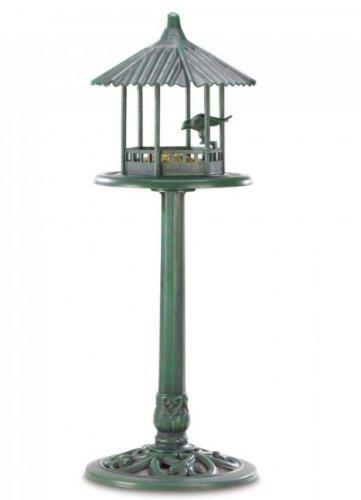 MD-group Elegant Bird Feeder luxurious lightweight garden this rooftop standing detailed PLASTIC 14.5'' x 14.5'' x 39.8''
