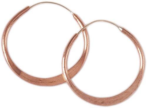 Hoop Earrings, Hammered Copper