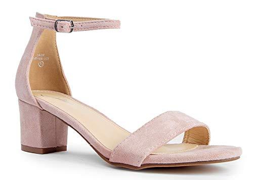 (Daisy Mid Heel Sandal, Dusty Rose Suede, 7.5 B(M) US )