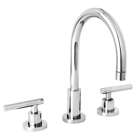 Newport Brass 990L East Linear Double Handle Widespread Lavatory Faucet with Met, Polished Chrome