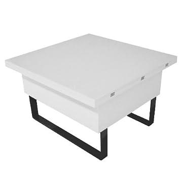 RDM Concept Table Basse Relevable à Plateau Dépliable New Viper   Blanc