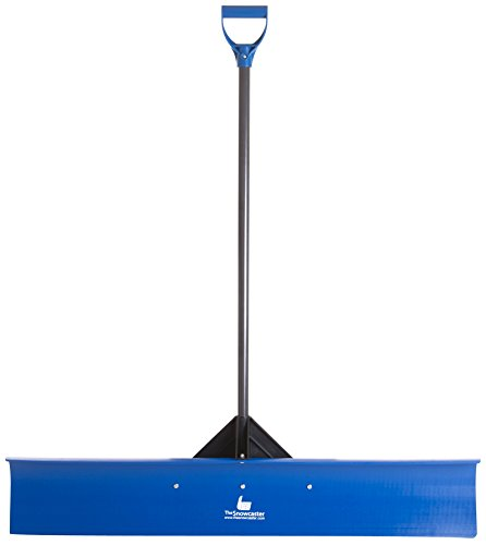 The Snowcaster 48UPH Pusher Shovel with 48-Inch Heavy Duty Plastic Blade, Blue by The Snowcaster