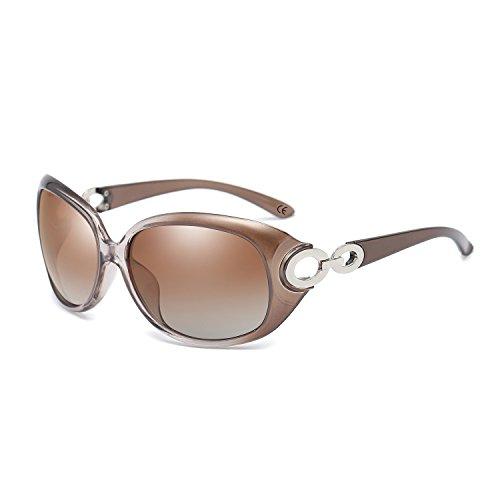 Estilo Frame BVAGSS UV400 De Polarizadas Champagne Gafas WS033 De Lens Mujer Moda Para Clásico Champagne Sol With De qvW16wxqFr