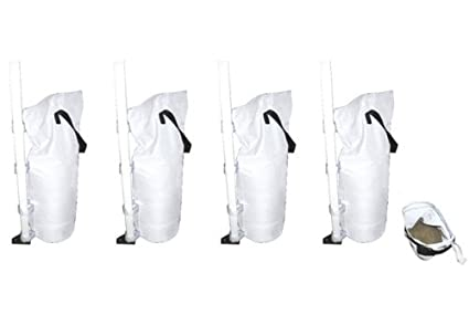 Gigatent Portable Outdoor Canopy Tent Weight Sand Bags Back Color White - Pack of 4  sc 1 st  Amazon.com & Amazon.com : Gigatent Portable Outdoor Canopy Tent Weight Sand ...