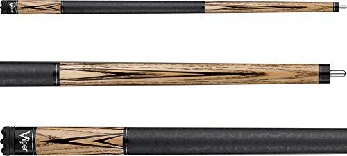 "Viper Elemental 58"" 2-Piece Billiard/Pool Cue, Natural Ash with Wood Grain, 20 Ounce"