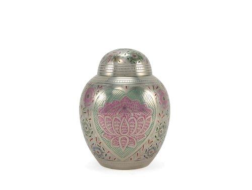 - Near & Dear Pet Memorials Lotus Heart Pet Cremation Urn, 40 Cubic Inch, Multi-Color