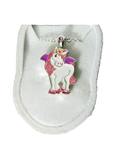 Box Velour Bracelet (Beautiful Unicorn Necklace Charm Pendant w/ Crystal in Unicorn Velour Gift Box)