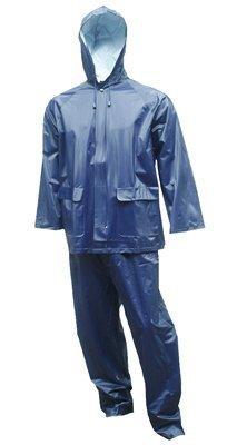 2PC LG Navy Rain Suit (0.25 Mm Pvc Rainsuit)