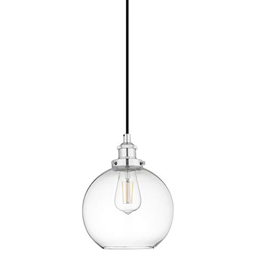 Chrome Industrial Pendant Light in US - 2