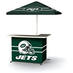 Best of Times NFL Patio Bar and Tailgating Center Deluxe Package- NY Jets