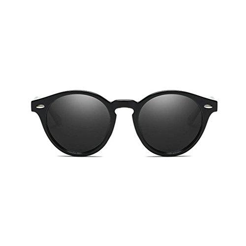 Coolsir conducción Ronda UV400 de en retro protección de Hombres 1 gafas Marco unisex polarizadas sol las de PC forma Mujeres Gafas de lentes CrUwxdCq