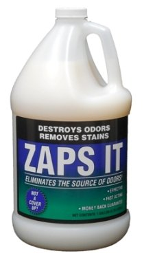 Zaps It Concentrate Natural Pet Odor Eliminator & Stain Remover, One Gallon (Makes up to 32 gallons of solution!) - Keep Pet urine off carpets, rugs - Use in outdoor - Off Carpet Urine