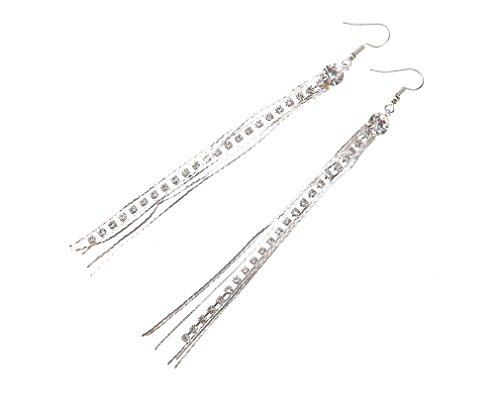Price comparison product image Long Drop Earring Diamante Bridal Rhinestone Dangle Evening Party Prom Jewelry