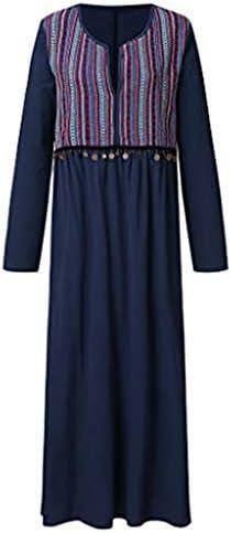 [해외]☆HebeTop Women`s Long Sleeve V-Neck Striped Printed Loose Plain Dresses Casual Long Dress / ☆HebeTop Women`s Long Sleeve V-Neck Striped Printed Loose Plain Dresses Casual Long Dress