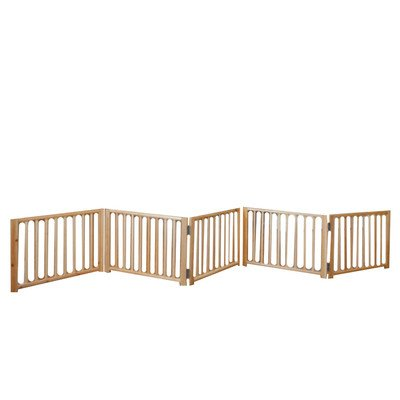 Four Paws Freestanding Walk Over Pet Gate Size: 17.5'' H x 48'' x 110'' W x 4.25'' D, Style: 5 Panel