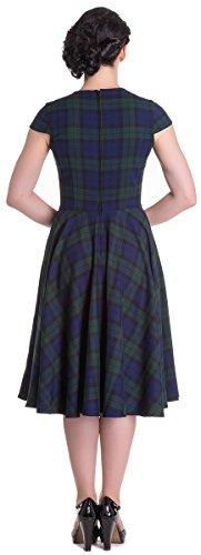Bunny Aberdeen grünes Hell 4543 Damen Dress Tartanmuster Karo Blau Kleid 1qndwwg