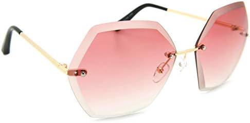 Amazon.com: Gafas de sol sin borde de gran tamaño con diseño ...