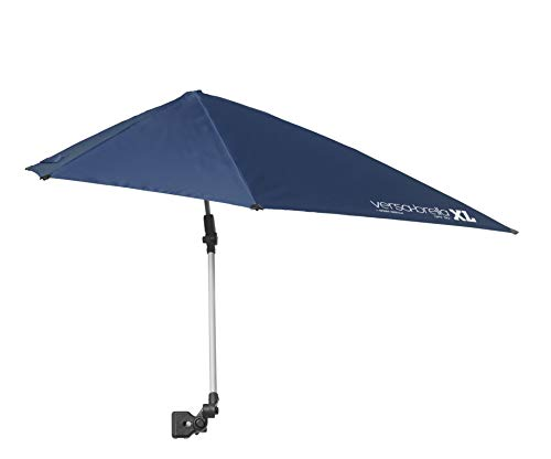 (Sport-Brella Versa-Brella SPF 50+ Adjustable Umbrella with Universal Clamp, XL, Midnight Blue)